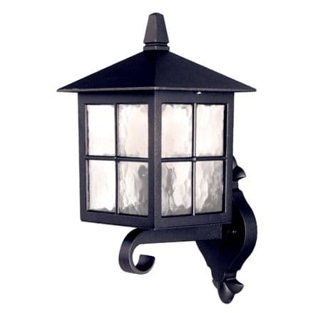 Elstead Winchester Wall Up Lantern Black