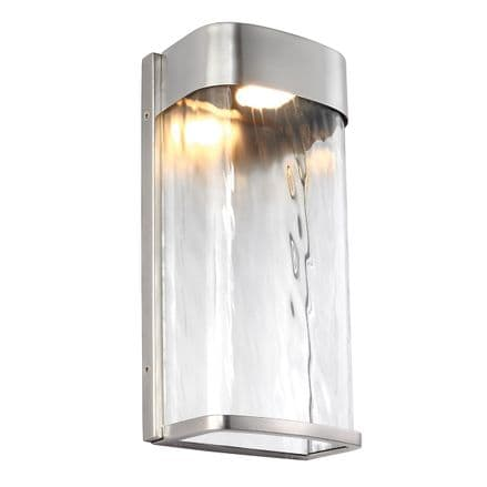 Feiss Bennie Large LED Wall Light Painted Brushed Steel