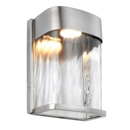 Feiss Bennie Small LED Wall Light Painted Brushed Steel