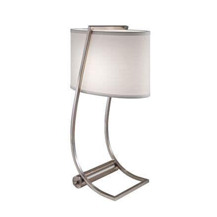Feiss Lex Table Lamp Brushed Steel