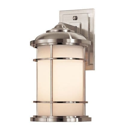 Feiss Lighthouse Medium Wall Lantern Brushed Steel