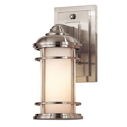 Feiss Lighthouse Small Wall Lantern Brushed Steel