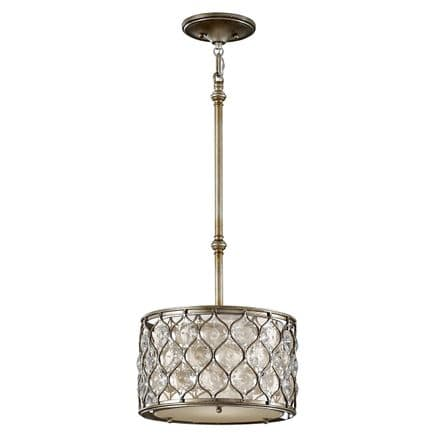 Feiss Lucia Pendant Light Burnished Silver