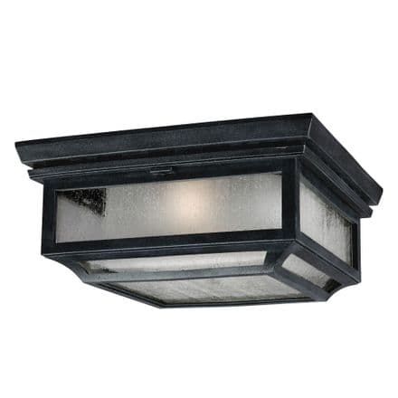 Feiss Shepherd Double Flush Ceiling Light Weathered Zinc