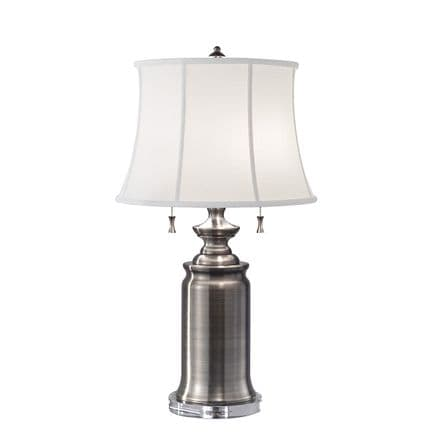 Feiss Stateroom Double Table Lamp Antique Nickel
