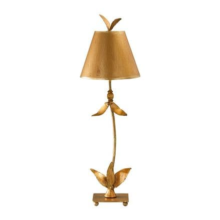 Flambeau Red Bell 1 Light Table Lamp Gold Leaf