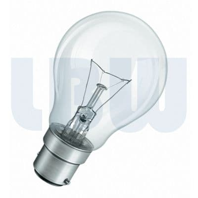 Light Bulb 100w Bayonet Cap Clear