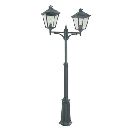 Norlys Turin 2 Light Grande Twin Lamp Post Black