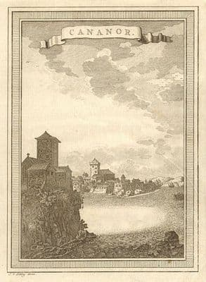 'Cananor'. View of Kannur, Kerala, India. SCHLEY 1755 old antique print