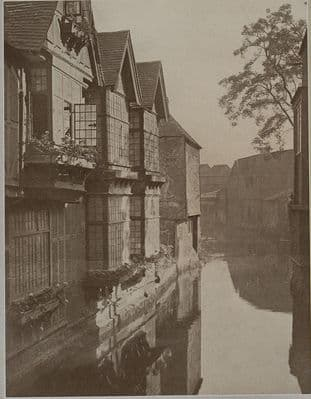 CANTERBURY 1923: THE WEAVERS on the River Stour. Medieval textile refugees. Kent