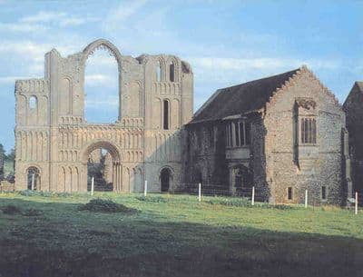 EAST ANGLIA.1957. Good view of CASTLE ACRE PRIORY. NORFOLK. Old Vintage Print.