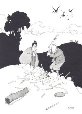 HEATH ROBINSON GOLF CARTOON: The forlorn hope; vintage print 1975