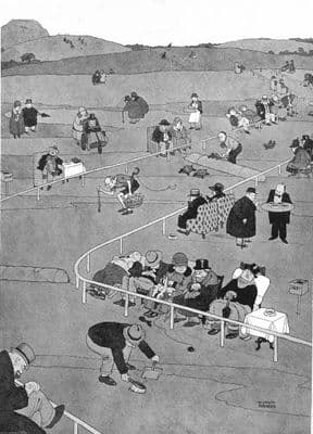 HEATH ROBINSON. Tortoise coursing. A pastime for the peacefully disposed 1935
