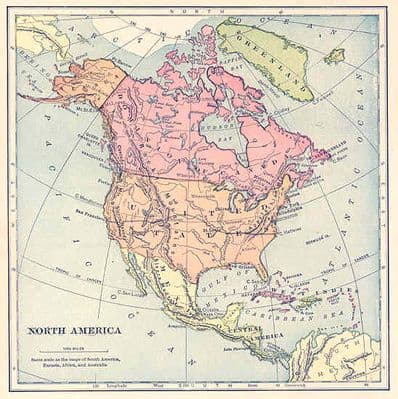 NORTH AMERICA: United States etc. Antique map. 1897