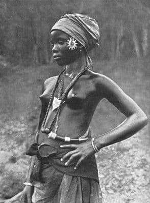 SIERRA LEONE. A Mende girl; Eastern and South-Eastern sides 1900 old print