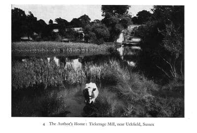 Sussex 1940: The Author's Home - TICKERAGE MILL near Uckfield. Old Print.