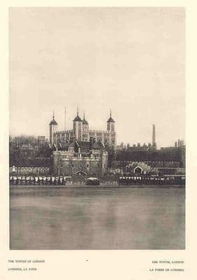 THE TOWER OF LONDON. Old Vintage Print.Hoppé.1926