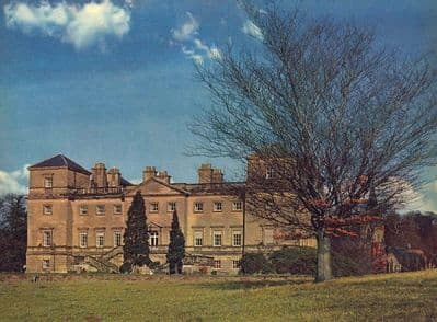 Worcs 1958: HAGLEY HALL. Built in the 18th Century. Old Vintage Print.