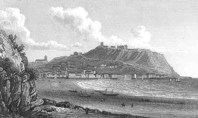 Yorkshire: SCARBOROUGH. Old Antique Print.Westall.1830