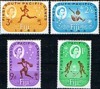 Postage Stamps Fiji 1963 SG 330 South Pacific Games Set Fine Mint