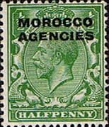 Morocco Agencies British Currency 1925  SG 55 Fine Mint