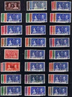 1937 King George VI Coronation Set Complete Set Fine Mint