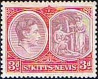 1938 St Kitts - Nevis King George VI  SG 73g Fine Mint