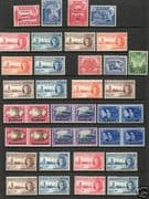 1946 King George VI Victory / Peace Complete Set Fine Mint