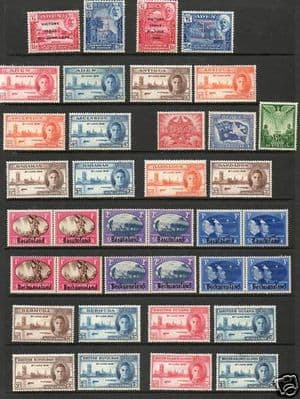 Stamps 1946 King George VI Victory / Peace Complete Set Fine Mint