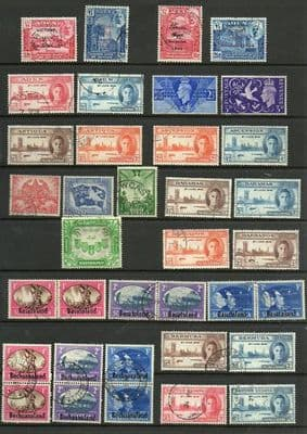 Stamps 1946 King George VI Victory / Peace Complete Set Fine Used