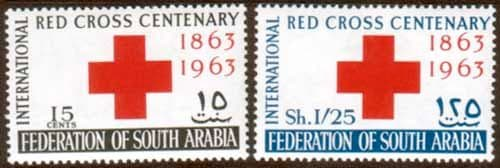 Stamp Stamps 1963 Red Cross Aden South Arabian Federation Fine Mint