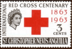 1963 St Christopher Nevis Anguilla Red Cross SG 127 Fine Mint