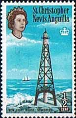1963 St Christopher Nevis Anguilla SG 129 New Light House Fine Mint