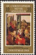 1969 St Christopher Nevis Anguilla Christmas SG 202 Fine Mint