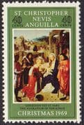 1969 St Christopher Nevis Anguilla Christmas SG 204 Fine Mint