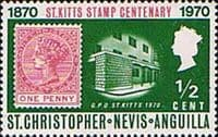 1970 St Christopher Nevis Anguilla SG 132 Stamp Centenary Fine Mint