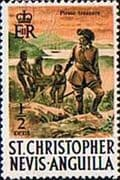 1970 St Christopher Nevis Anguilla SG 206 Pirates and treasure at Frigat Fine Mint