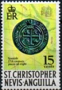 1970 St Christopher Nevis Anguilla SG 214a Piece of Eight Fine Mint