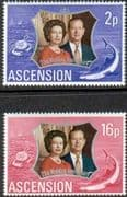 1972 Ascension Royal Silver Wedding Set Fine Mint