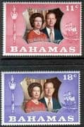 1972 Bahamas Royal Silver Wedding Set Fine Mint