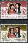 1972 British Antarctic Territory Royal Silver Wedding Set Fine Mint