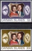 1972 Cayman Islands Royal Silver Wedding Set Fine Mint