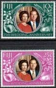 1972 Fiji Royal Silver Wedding Set Fine Mint