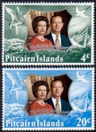 1972 Pitcairn Islands Royal Silver Wedding Stamps
