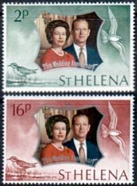 Stamps 1972 St Helena Royal Silver Wedding