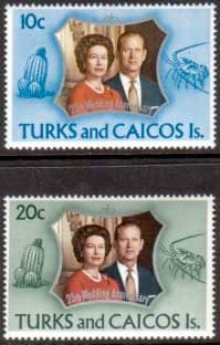 Stamps 1972 Turks and Caicos Islands Royal Silver Wedding
