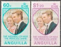 1973 Anguilla Princess Anne Royal Wedding Set Fine Mint