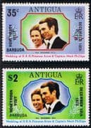 1973 Barbuda Princess Anne Royal Wedding Honeymoon Visit Set Fine Mint
