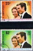 1973 Grenada Princess Anne Royal Wedding Set Fine Used