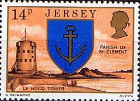 Postage Stamps Stamp Jersey Parish Arms and Views SG 148 Le Hocq Tower and St Clement Fine Mint